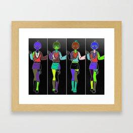 jAP aNIME GIRLS Framed Art Print