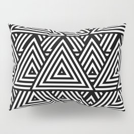 Triangle Pattern Black And White Pillow Sham