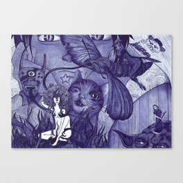 surreal watcher Canvas Print