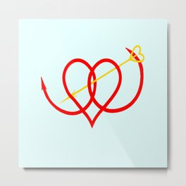 Heart and Arrow Just for You Metal Print