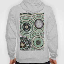 Green and Gold Rings Hoody