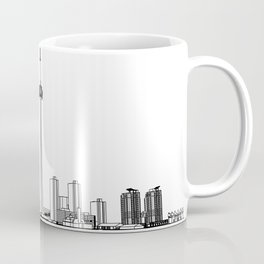 Toronto Skyline - Black on White Coffee Mug