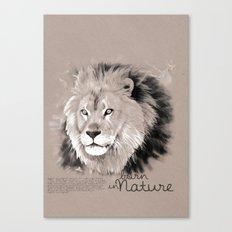 Lion (BornInNature) Canvas Print