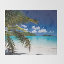 Tropical Shore Throw Blanket
