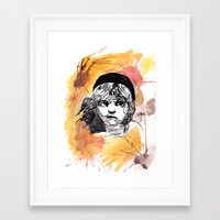 les miserables Framed Art Prints featuring Les Miserables by Taylor Starnes