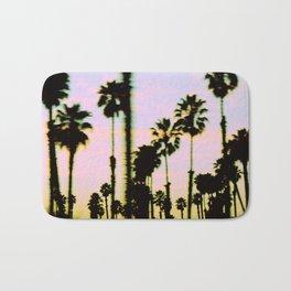 California Dreaming Palm Trees Sunset Bath Mat