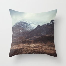 A Storm in the Highlands Throw Pillow