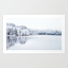 White Wonder Reflection Art Print