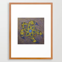 Purple Turtle Framed Art Print