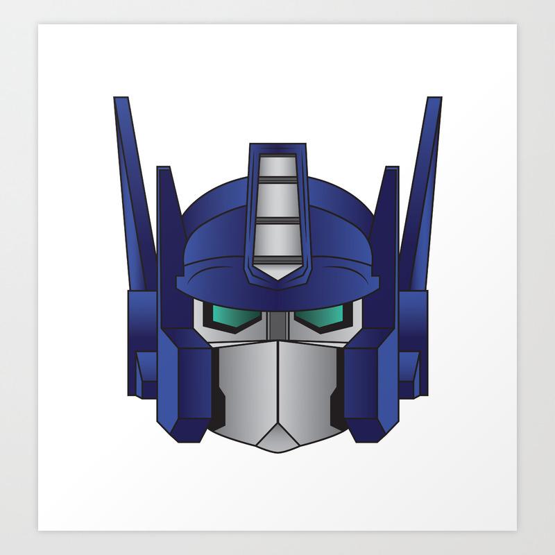 Optimus Prime Art Print By Andreasleonidou Society6