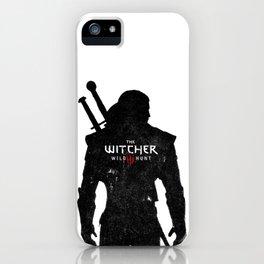 Geralt Silhouette iPhone Case