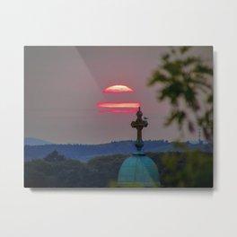 Hazy Sunset in Portland, Maine Metal Print