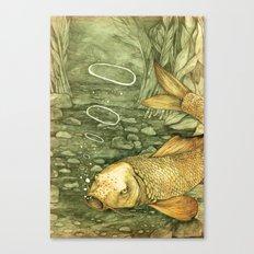 Le Mutisme d'une Carpe (The Golden Carp) Canvas Print