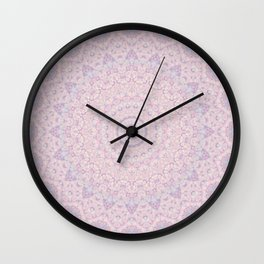 Pastel Lilac and Pink Mosaic Wall Clock
