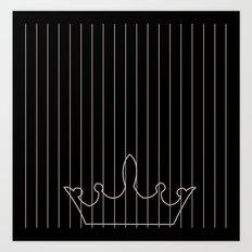 crown and stripes Art Print