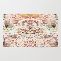 minerals Area & Throw Rugs featuring Mystic Minerals 2 by Caroline Sansone