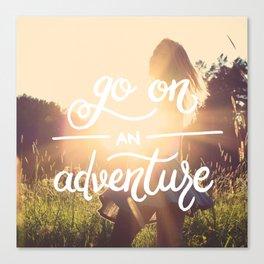 Go on an adventure Canvas Print