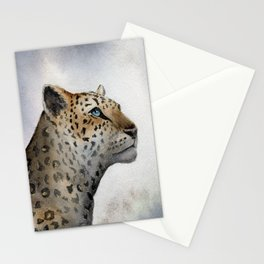 Leopard Watercolor Stationery Cards