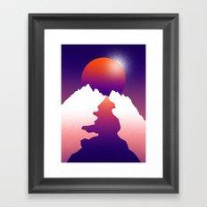 Spilt moon Framed Art Print