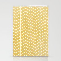 chevron Stationery Cards featuring Yellow Chevron by Zeke Tucker