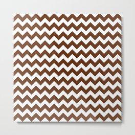 CHEVRON DESIGN (BROWN-WHITE) Metal Print
