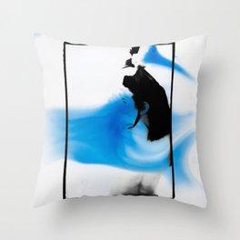 Female dark room print scan Throw Pillow