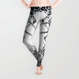 Black and white tentacles Leggings