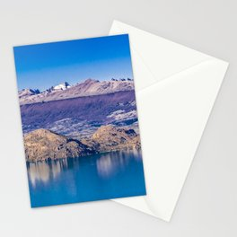 Lake and Mountains Landscape, Patagonia, Chile Stationery Cards