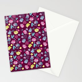 Cute Red Pandas Pattern Stationery Cards
