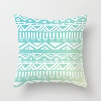 tribal Throw Pillows featuring Tribal  by Julia