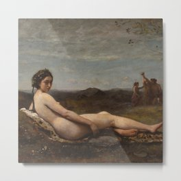 "Jean-Baptiste-Camille Corot ""Repose"" Metal Print"