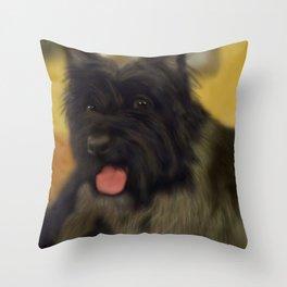 Anonymous dog Throw Pillow
