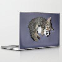 berserk Laptop & iPad Skins featuring Monroe Kitten by Berserk Cyborg Panda