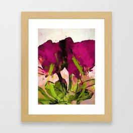 Rose Romantica Magenta Green Framed Art Print