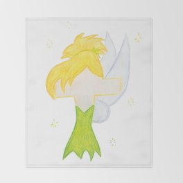 T is for Tink Throw Blanket
