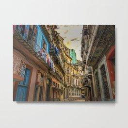 Back Alleys, Havana, Cuba Metal Print