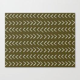 Arrows on Bronze-Olive Canvas Print