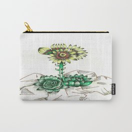 Succulent Structure Carry-All Pouch