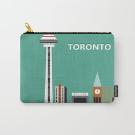 Toronto, Ontario, Canada - Skyline Illustration by Loose Petals Carry-All Pouch
