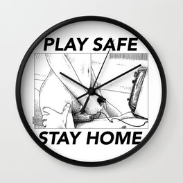 asc 443 - Le joystick (Toying with Pong) STAY HOME Wall Clock