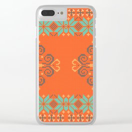 Christmas knitted pattern Clear iPhone Case