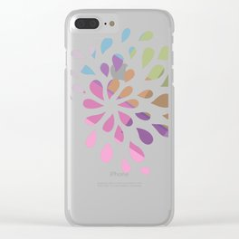 Colourful drops Clear iPhone Case