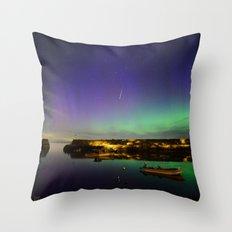 Shooting Star Aurora at Lanes Cove Throw Pillow