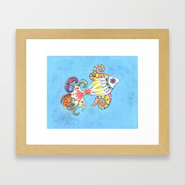 Princess of the Sea - India Inspired Exotic Art Print - Limited Edition Framed Art Print