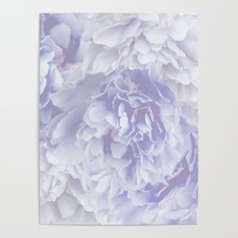 Flower Bouquet In Pastel Blue Color - #society6 #buyart Poster