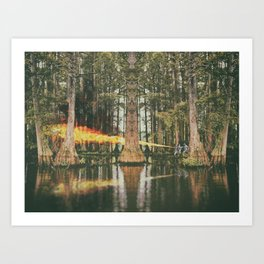 Into the countryside Art Print