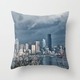 Seattle's shades of gray Throw Pillow