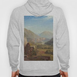 The Juniata Evening 1864 By Thomas Moran | Scenic National Park View Reproduction Hoody