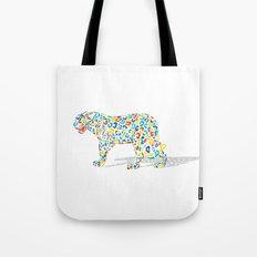 Technicolor Jaguar Tote Bag