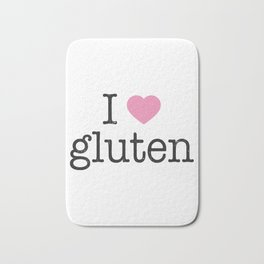 I Heart Gluten Bath Mat